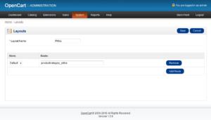 Создание новой схемы в OpenCart